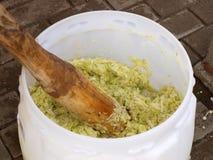 shredding капусты Стоковая Фотография