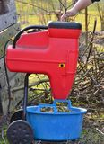 Shredding branches and garden waste Royalty Free Stock Photos