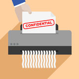 Shredding confidential letter Royalty Free Stock Image