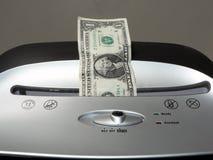 Shredding da conta de dólar Imagens de Stock Royalty Free