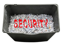 Shredding documents for security. And confidentiality Stock Photos