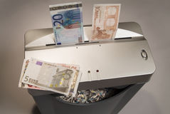 Shredding EURO currency Royalty Free Stock Photo