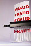 Shredding fraud. Stock Image
