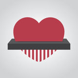 Shredding Heart Royalty Free Stock Photography