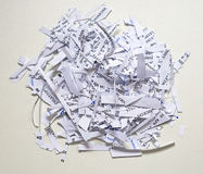 Shredding. Paper with confidential and senzitive private documents Stock Image