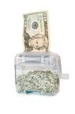 Shredding seu dinheiro - $20 imagens de stock