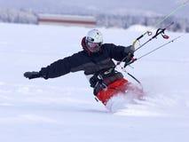 Shredding on a snowboard. Stock Photos