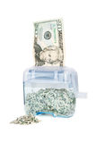 Shredding Your Money - $20 with pile Royalty Free Stock Image