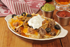 Shreded beef nachos Stock Photography
