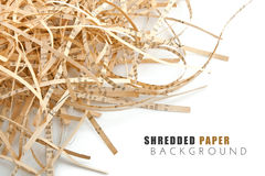 Shreded book paper with letter. Shreded book paper with on white background Royalty Free Stock Photo