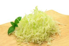Shreds of the cabbage Stock Images
