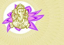 Shree Ganesha card  Stock Image