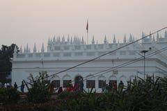 Shree Krishna świątyni tapeta zdjęcia stock