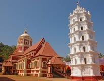 Shree Shanta Durga Temple i Goa royaltyfri fotografi