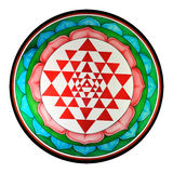Shree yantra. Meditation chakra with floral representation Stock Photos