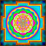 Shree Yantra Imagem de Stock Royalty Free
