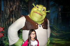 Shrek à Madame Tussauds Photos stock