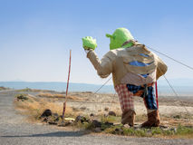 Shrek in the desert Stock Photography