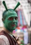 Shrek kostium Fotografia Royalty Free
