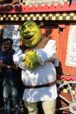 Shrek på universella studior Hollywood arkivbild