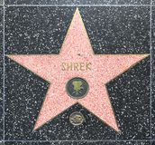 Shrek's star on Hollywood Walk Royalty Free Stock Photography
