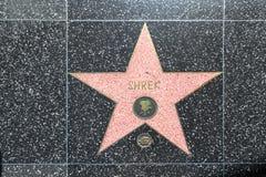 Shrek's star on Hollywood Walk Royalty Free Stock Photos