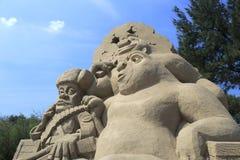 Shrek sand sculpture Royalty Free Stock Photo