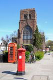 Shrewsbury Abbey. Royalty Free Stock Photo