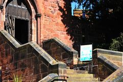 Shrewsbury Castle steps. Stock Photo
