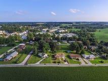 Shrewsbury del centro, case della Pensilvania di estate in Yo del sud Fotografie Stock Libere da Diritti