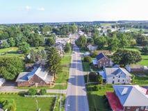 Shrewsbury del centro, case della Pensilvania di estate in Yo del sud Immagini Stock Libere da Diritti