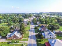 Shrewsbury del centro, case della Pensilvania di estate in Yo del sud Immagini Stock