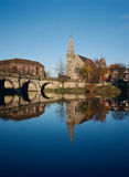 River Severn in Shrewsbury , England Stock Images