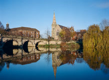 Historic Shrewsbury Town on the River Severn, England Stock Photos