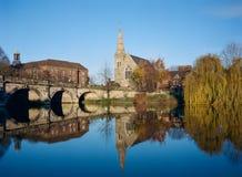 Shrewsbury historisk stad, England Arkivfoton