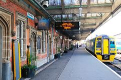 Shrewsbury järnvägsstation Royaltyfri Fotografi