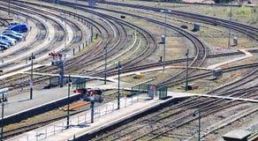 Shrewsbury linie kolejowe Obrazy Stock