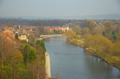 Shrewsbury and the river severn Royalty Free Stock Photos