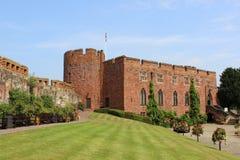 Shrewsbury slott, Shrewsbury, Shropshire Arkivbild