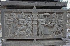 Shri bhiravnath Tempel van Lord Shiva in Kikli, Maharashtra, India Royalty-vrije Stock Foto's