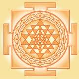 Shri Chakra Yantra vektor illustrationer