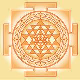 Shri Chakra Yantra Stock Photo