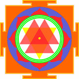Shri Durga-Yantra Stock Photo