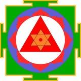 Shri Ganesha-Yantra. Sacred Yantra of Bhagavan Shri Ganesh Stock Photos