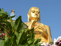 Shri-lanka, der Buddistsky Goldtempel Lizenzfreie Stockfotografie