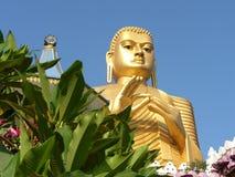 Shri-lanka, le temple d'or de Buddistsky Photographie stock libre de droits