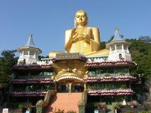 Shri-lanka, le temple d'or de Buddistsky Photo libre de droits