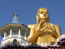 Shri-lanka, le temple d'or de Buddistsky Photo stock