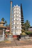 Shri Mahalsa Indian Hindu Temple en Ponda, GOA, la India fotografía de archivo libre de regalías