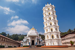 Shri Mangeshi temple royalty free stock photo